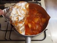 鯖缶とジャガイモのトマト煮37