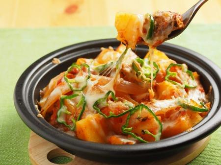 鯖缶とジャガイモのトマトチーズ29