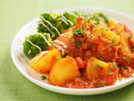 鯖缶とジャガイモのトマト煮14