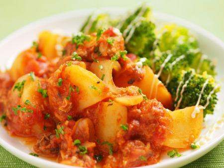 鯖缶とジャガイモのトマト煮13