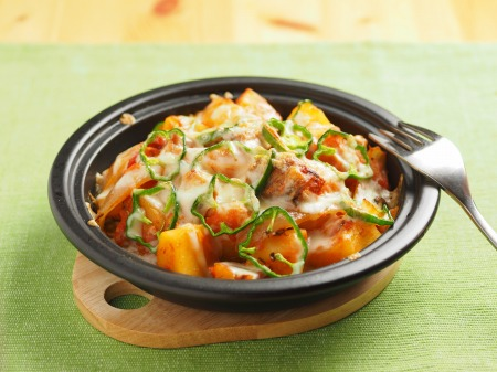 鯖缶とジャガイモのトマトチーズ04