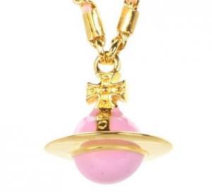 ピンクのオーブ ネックレス2