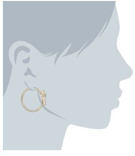 Iconic Summer Cross Hoop Earrings 2