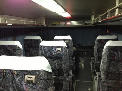富山遠征夜行バス車内