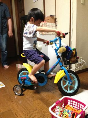 三輪車室内練習