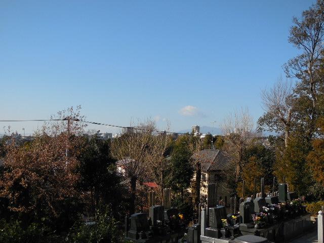 お墓からの富士山