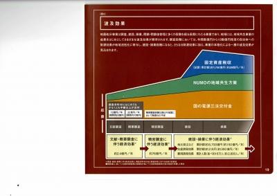 事前調査の経済効果を強調するNUMOのパンフ