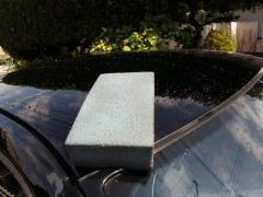 ルーフ洗車