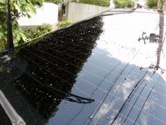 リアガラス洗車