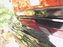 リアバンパー洗車