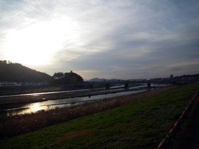 夕暮れの渡良瀬橋