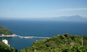 関の五本松からの景色