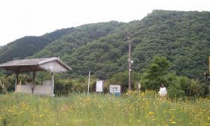 式敷駅にて