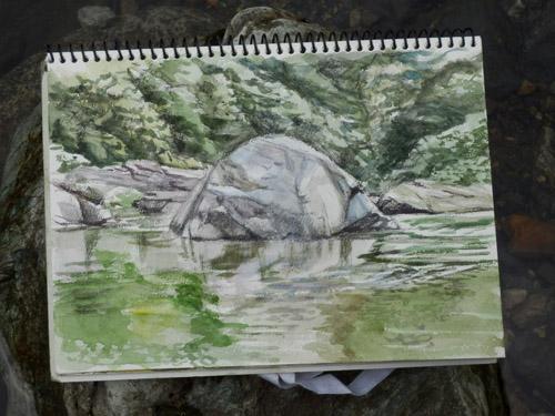 20130823-1_川の石の写生1