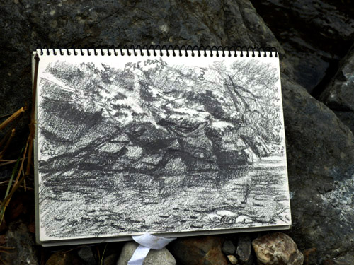 20130823-2_川の石の写生2