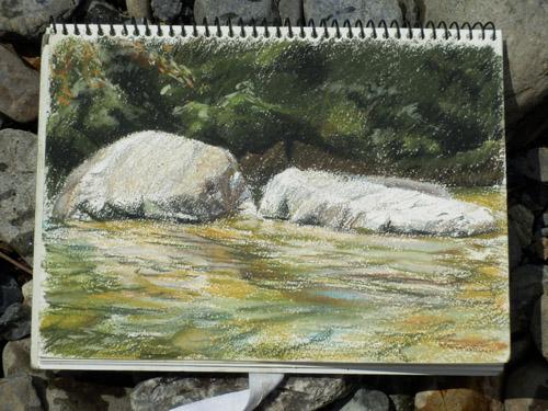 20130823-3_川の石の写生3