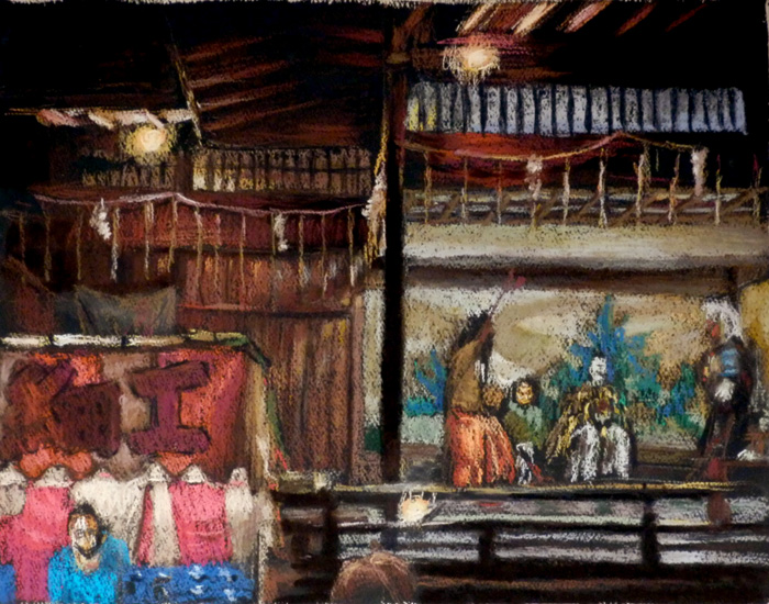 旗岡八幡祭り能舞台-1
