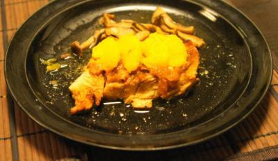 鶏のオレンジソース