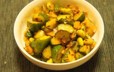 胡瓜と枝豆のグリーンサブジ2