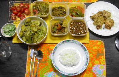 インド式お惣菜の夕食