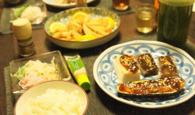 日本の普通の夕食風景