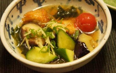 夏野菜の揚げ浸し(小鉢)胡瓜入り