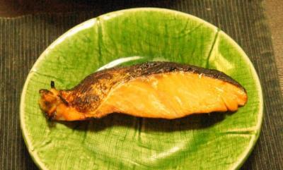 鮭の幽庵(柚子餡)焼き