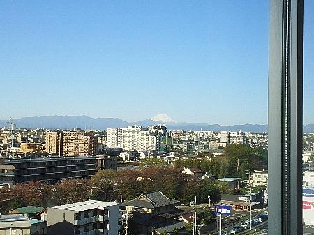 病院から望む富士山