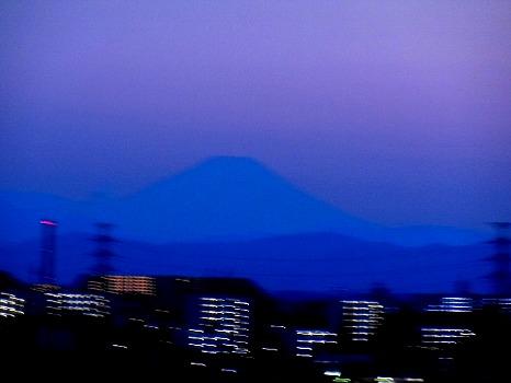 迎えてくれた富士山