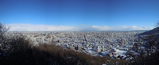 円山頂上からの景色。