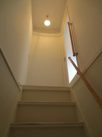 南山田テラスハウス階段手すり