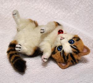 白キジトラはちわれ子猫140108 027