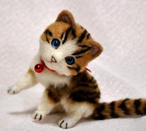 白キジトラはちわれ子猫140108 029