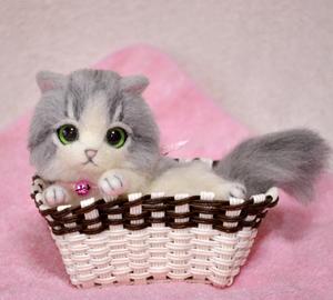 グレーハチワレ子猫140114 009