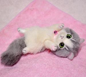 グレーハチワレ子猫140114 027