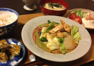 Sep11_ササミと野菜炒め