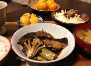 Nov25_カレイと野菜の煮つけ