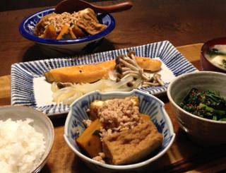 Nov27_かぼちゃと厚揚げ煮