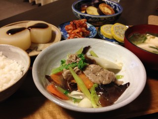 Dec10_豚肉と野菜のあんかけ