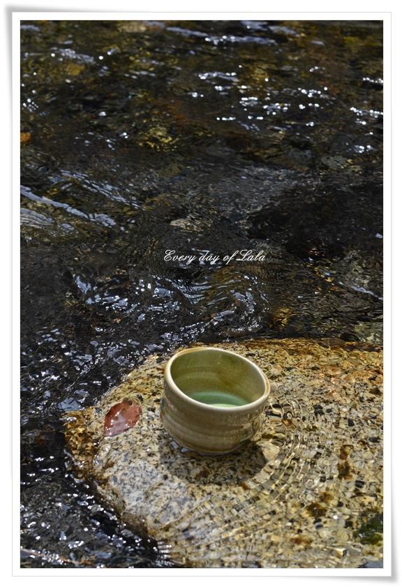 川でお抹茶を201305