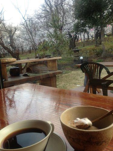 雪の後のwコーヒー