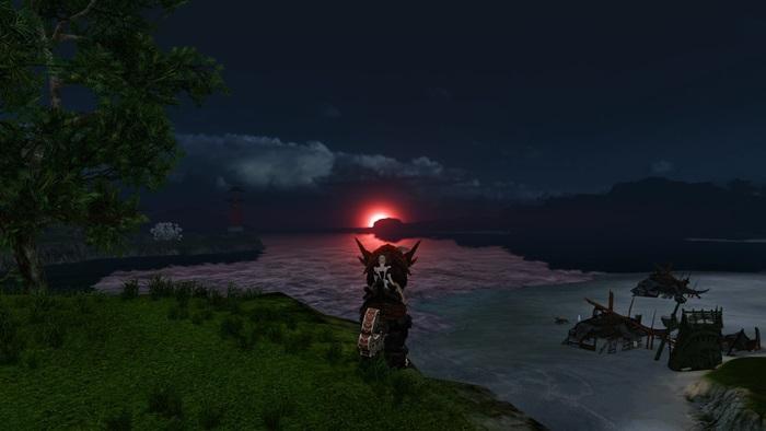 湾岸の夕日 サンドラ