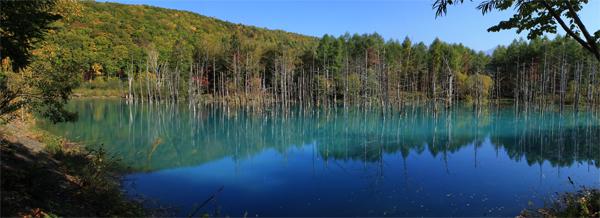 青い池_パノラマ2