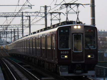 3月16日阪急神戸線馬急(仁川発臨時急行)を撮影する