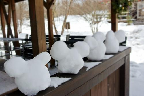25ミッキー雪だるま
