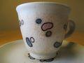 新作コーヒーカップ 豆模様 大写し