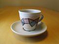 新作コーヒーカップ 幾何学模様