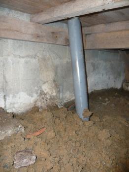 排水管取付 縦