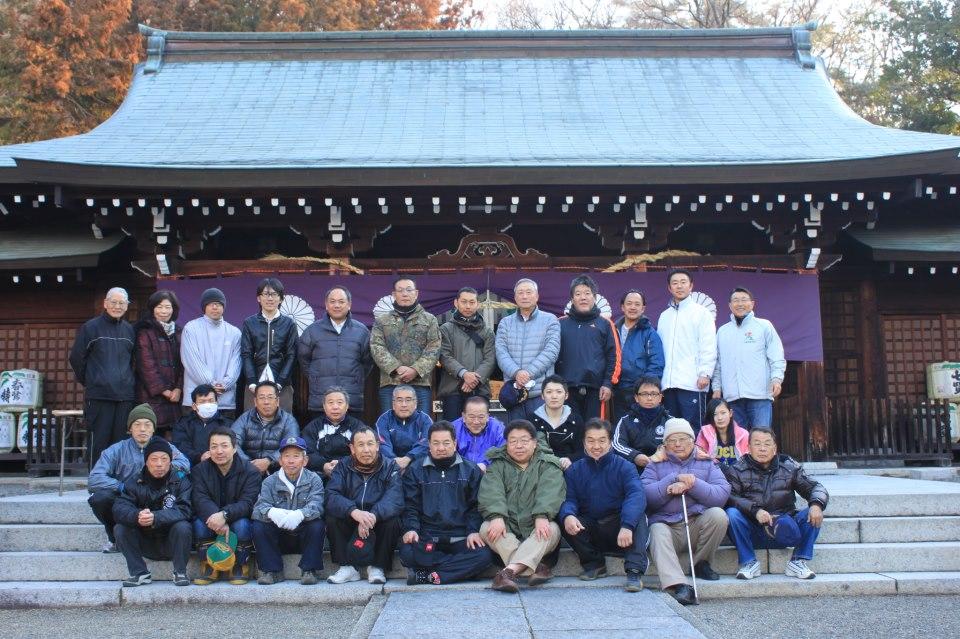 山梨護国神社清掃活動
