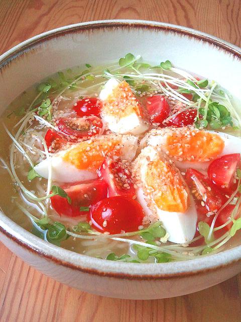 インスタント袋麺で☆冷やしトマトラーメン by ぷよりんご